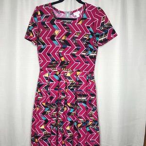 Geometric Medium Lularoe Amelia Dress